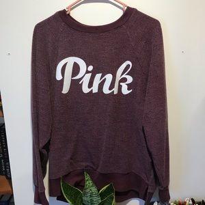 PINK VS Maroon Sweatshirt